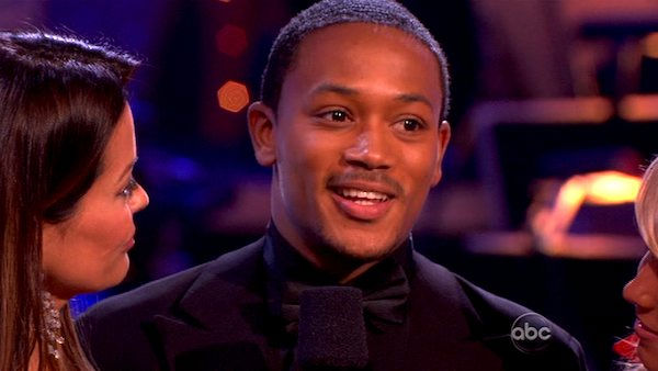 Romeo and his partner Chelsie Hightower react to...