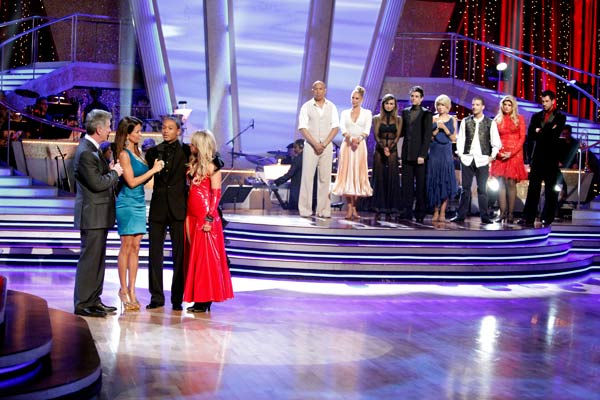 "<div class=""meta ""><span class=""caption-text "">Romeo and his partner Chelsie Hightower react to being eliminated. The couple received 27 out of 30  for their Argentine Tango and 25 points out of 30 for their Salsa, making their score a total of 52  out of 60 on week eight of 'Dancing With The Stars' on Monday, May 10, 2011.  (ABC Photo/ Adam Taylor)</span></div>"