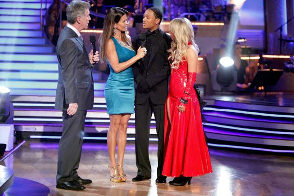 Romeo and his partner Chelsie Hightower react to being eliminated. The couple received 27 out of 30  for their Argentine Tango and 25 points out of 30 for their Salsa, making their score a total of 52  out of 60 on week eight of &#39;Dancing With The Stars&#39; on Monday, May 10, 2011.  <span class=meta>(ABC Photo&#47; Adam Taylor)</span>