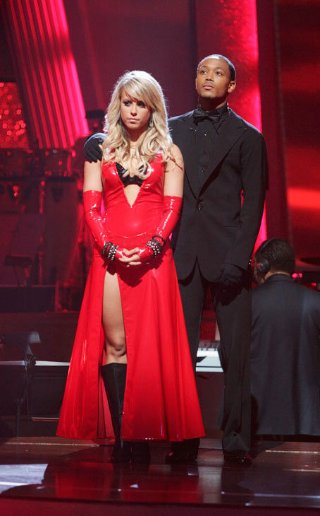 Romeo and his partner Chelsie Hightower await possible elimination. The couple received 27 out of 30  for their Argentine Tango and 25 points out of 30 for their Salsa, making their score a total of 52  out of 60 on week eight of &#39;Dancing With The Stars&#39; on Monday, May 10, 2011.  <span class=meta>(ABC Photo&#47; Adam Taylor)</span>