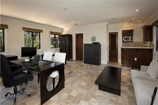 The office inside Anna Kournikova&#39;s Miami Beach home. The seven-bedroom, eight-bathroom house is 6,600 square feet and was put on the market in the spring of 2011 for &#36;9.4 million. <span class=meta>(Photo&#47;Miamicitydiggs.com)</span>