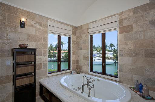 One of eight bathrooms inside Anna Kournikova's Miami Beach home. The seven-bedroom, eight-bathroom house is 6,600 square feet and was put on the market in the spring of 2011 for $9.4 million.
