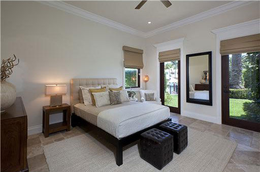 One of seven bedrooms inside Anna Kournikova&#39;s Miami Beach home. The seven-bedroom, eight-bathroom house is 6,600 square feet and was put on the market in the spring of 2011 for &#36;9.4 million. <span class=meta>(Photo&#47;Miamicitydiggs.com)</span>