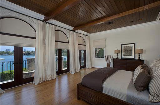 One of seven bedrooms inside Anna Kournikova's...