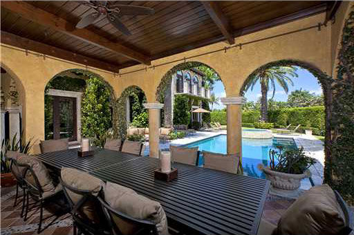 Anna Kournikova's Miami Beach home. The seven-bedroom, eight-bathroom house is 6,600 square feet and was put on the market in the spring of 2011 for $9.4 million.