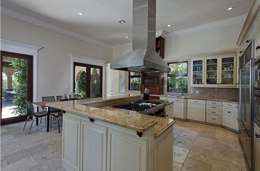 The kitchen inside Anna Kournikova&#39;s Miami Beach home. The seven-bedroom, eight-bathroom house is 6,600 square feet and was put on the market in the spring of 2011 for &#36;9.4 million. <span class=meta>(Photo&#47;Miamicitydiggs.com)</span>
