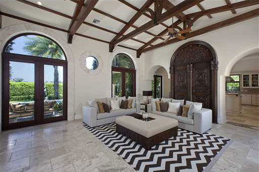 Anna Kournikova&#39;s Miami Beach home. The seven-bedroom, eight-bathroom house is 6,600 square feet and was put on the market in the spring of 2011 for &#36;9.4 million. <span class=meta>(Photo&#47;Miamicitydiggs.com)</span>
