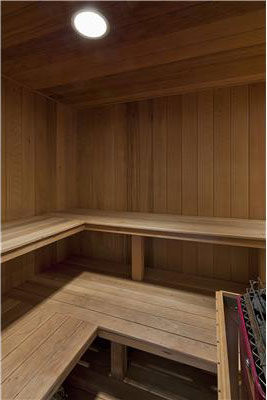 The sauna inside Anna Kournikova&#39;s Miami Beach home. The seven-bedroom, eight-bathroom house is 6,600 square feet and was put on the market in the spring of 2011 for &#36;9.4 million. <span class=meta>(Photo&#47;Miamicitydiggs.com)</span>
