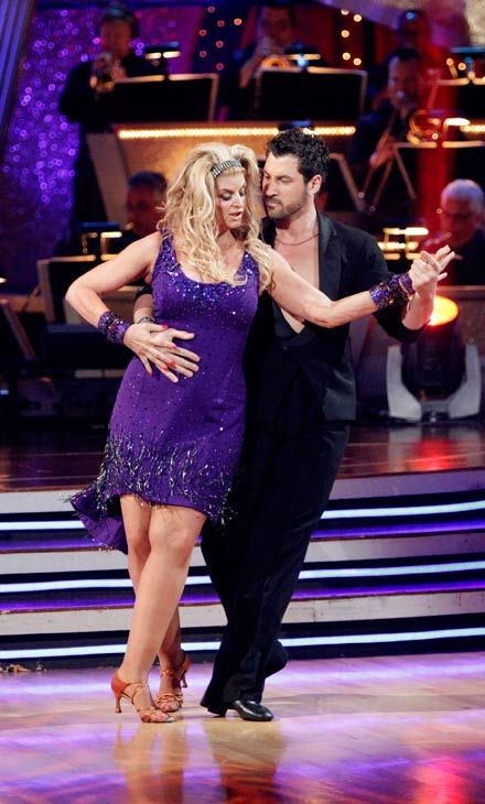 Kirstie Alley and her partner Maksim Chmerkovskiy dance a Vienese Waltz, a Paso Doble and an Instant Cha Cha on week nine of &#39;Dancing With The Stars.&#39; The judges gave the couple 27 out of 30 for their Vienese Waltz and 27 points out of 30 for their Paso Doble. The couple earned a total of 54 out of 60.   <span class=meta>(Photo&#47;Adam Taylor)</span>