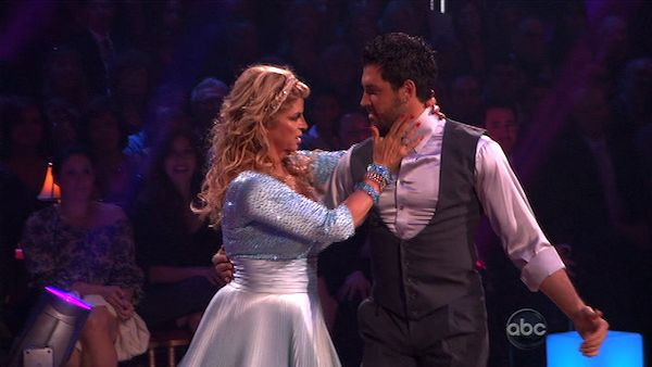 Kirstie Alley and her partner Maksim Chmerkovskiy dance a Vienese Waltz, a Paso Doble and an Instant Cha Cha on week nine of &#39;Dancing With The Stars.&#39; The judges gave the couple 27 out of 30 for their Vienese Waltz and 27 points out of 30 for their Paso Doble. The couple earned a total of 54 out of 60.   <span class=meta>(ABC Photo)</span>