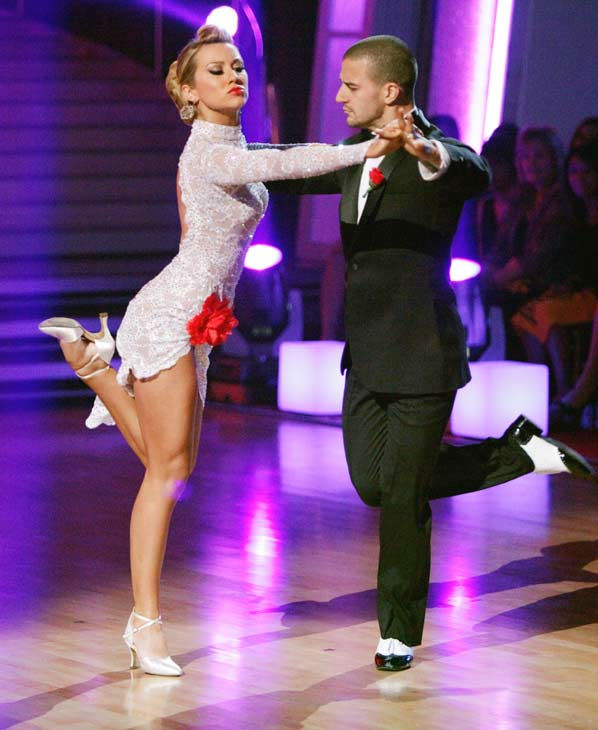 Chelsea Kane and her partner Mark Ballas dance an Argentine Tango, a Rumba and an Instant Cha Cha on week nine of &#39;Dancing With The Stars.&#39; The judges gave the couple 28 out of 30 for their Argentine Tango and 30 points out of 30 for their Rumba. The couple earned a total of 58 out of 60. They also earned an extra 15 points for winning the Instant Cha Cha round. <span class=meta>(Photo&#47;Adam Taylor)</span>