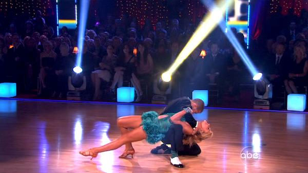 "<div class=""meta image-caption""><div class=""origin-logo origin-image ""><span></span></div><span class=""caption-text"">Chelsea Kane and her partner Mark Ballas dance an Argentine Tango, a Rumba and an Instant Cha Cha on week nine of 'Dancing With The Stars.' The judges gave the couple 28 out of 30 for their Argentine Tango and 30 points out of 30 for their Rumba. The couple earned a total of 58 out of 60. They also earned an extra 15 points for winning the Instant Cha Cha round. (ABC Photo)</span></div>"