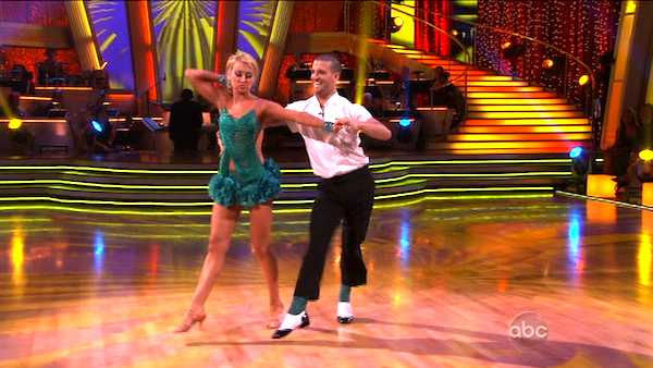 "<div class=""meta ""><span class=""caption-text "">Chelsea Kane and her partner Mark Ballas dance an Argentine Tango, a Rumba and an Instant Cha Cha on week nine of 'Dancing With The Stars.' The judges gave the couple 28 out of 30 for their Argentine Tango and 30 points out of 30 for their Rumba. The couple earned a total of 58 out of 60. They also earned an extra 15 points for winning the Instant Cha Cha round. (ABC Photo)</span></div>"