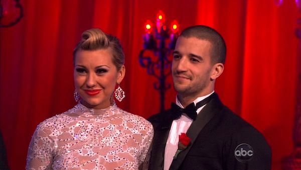 Chelsea Kane and her partner Mark Ballas dance an Argentine Tango, a Rumba and an Instant Cha Cha on week nine of &#39;Dancing With The Stars.&#39; The judges gave the couple 28 out of 30 for their Argentine Tango and 30 points out of 30 for their Rumba. The couple earned a total of 58 out of 60. They also earned an extra 15 points for winning the Instant Cha Cha round. <span class=meta>(ABC Photo)</span>