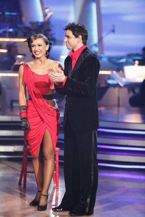 Ralph Macchio and his partner Karina Smirnoff dance an Argentine Tango, a Salsa and an Instant Cha Cha on week nine of 'Dancing With The Stars.' The judges gave the couple 25 out of 30 for their Argentine Tango and 23 poin