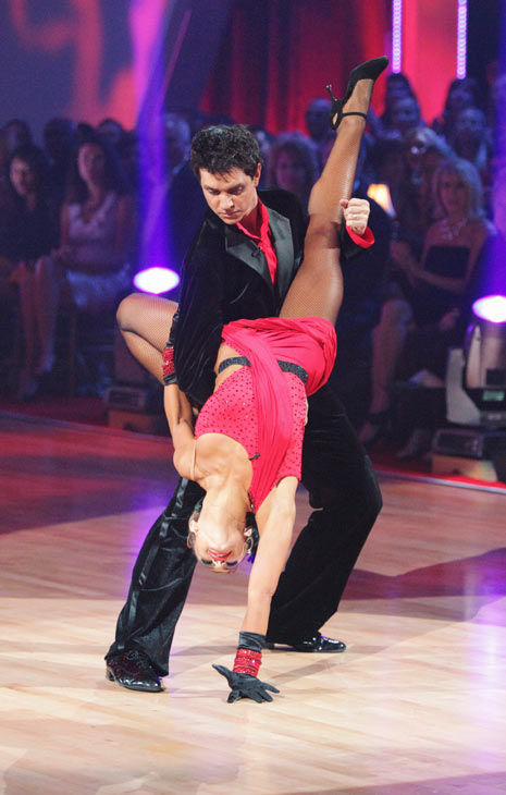"<div class=""meta image-caption""><div class=""origin-logo origin-image ""><span></span></div><span class=""caption-text"">Ralph Macchio and his partner Karina Smirnoff dance an Argentine Tango, a Salsa and an Instant Cha Cha on week nine of 'Dancing With The Stars.' The judges gave the couple 25 out of 30 for their Argentine Tango and 23 points out of 30 for their Salsa. The couple earned a total of 48 out of 60. (ABC Photo/ Adam Taylor)</span></div>"