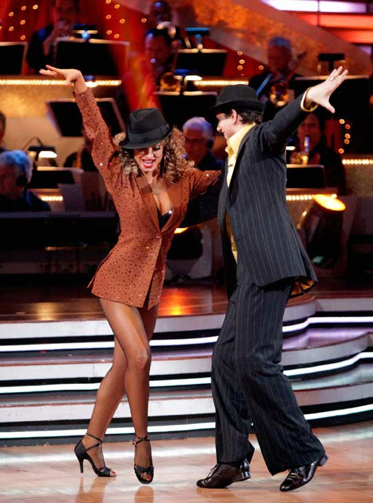 "<div class=""meta ""><span class=""caption-text "">Ralph Macchio and his partner Karina Smirnoff dance an Argentine Tango, a Salsa and an Instant Cha Cha on week nine of 'Dancing With The Stars.' The judges gave the couple 25 out of 30 for their Argentine Tango and 23 points out of 30 for their Salsa. The couple earned a total of 48 out of 60. (ABC Photo/ Adam Taylor)</span></div>"