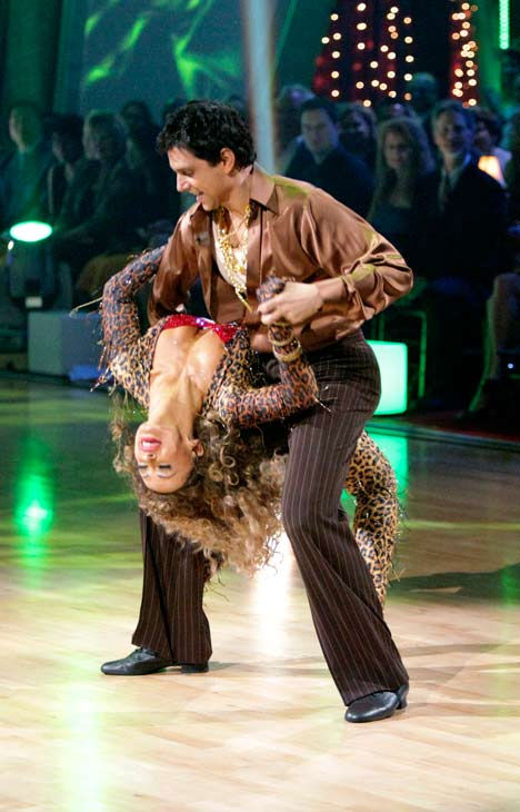 Ralph Macchio and his partner Karina Smirnoff dance an Argentine Tango, a Salsa and an Instant Cha Cha on week nine of &#39;Dancing With The Stars.&#39; The judges gave the couple 25 out of 30 for their Argentine Tango and 23 points out of 30 for their Salsa. The couple earned a total of 48 out of 60. <span class=meta>(ABC Photo&#47; Adam Taylor)</span>