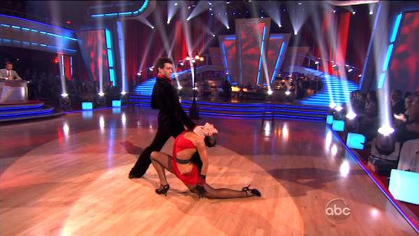 "<div class=""meta image-caption""><div class=""origin-logo origin-image ""><span></span></div><span class=""caption-text"">Ralph Macchio and his partner Karina Smirnoff dance an Argentine Tango, a Salsa and an Instant Cha Cha on week nine of 'Dancing With The Stars.' The judges gave the couple 25 out of 30 for their Argentine Tango and 23 points out of 30 for their Salsa. The couple earned a total of 48 out of 60. (ABC Photo)</span></div>"
