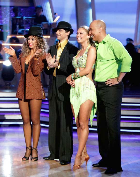 Hines Ward and his partner Kym Johnson won the first round of the Instant Cha Cha, beating Ralph Macchio and his partner Karina Smirnoff. Ward and Johnson then went up against the second round winners, Chelsea Kane and her partner Mark Ballas, who beat out Kirstie Alley and her partner Maksim Chmerkovskiy. Kane and Ballas eventually earned an extra 15 points for winning the Instant Cha Cha round.  <span class=meta>(ABC Photo&#47; Adam Taylor)</span>