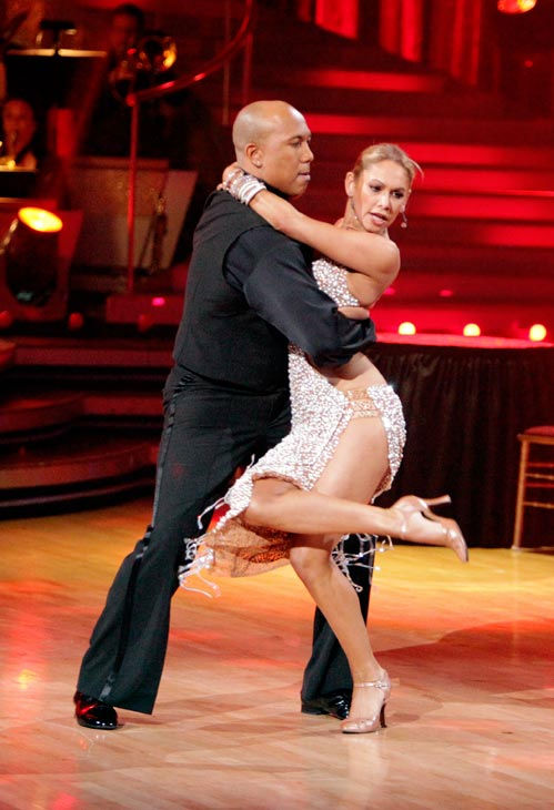Hines Ward and his partner Kym Johnson dance a Tango, a Salsa and an Instant Cha Cha on week nine of &#39;Dancing With The Stars.&#39; The judges gave the couple 30 out of 30 for their Argentine Tango and 30 points out of 30 for their Salsa. The couple earned a total of 60 out of 60. <span class=meta>(ABC Photo&#47; Adam Taylor)</span>