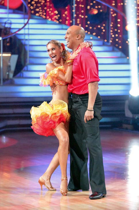 "<div class=""meta ""><span class=""caption-text "">Hines Ward and his partner Kym Johnson dance a Tango, a Salsa and an Instant Cha Cha on week nine of 'Dancing With The Stars.' The judges gave the couple 30 out of 30 for their Argentine Tango and 30 points out of 30 for their Salsa. The couple earned a total of 60 out of 60. (ABC Photo/ Adam Taylor)</span></div>"