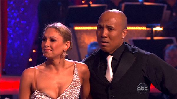 "<div class=""meta image-caption""><div class=""origin-logo origin-image ""><span></span></div><span class=""caption-text"">Hines Ward and his partner Kym Johnson dance a Tango, a Salsa and an Instant Cha Cha on week nine of 'Dancing With The Stars.' The judges gave the couple 30 out of 30 for their Argentine Tango and 30 points out of 30 for their Salsa. The couple earned a total of 60 out of 60. (ABC Photo)</span></div>"