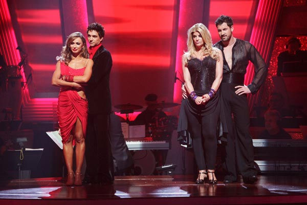 "<div class=""meta image-caption""><div class=""origin-logo origin-image ""><span></span></div><span class=""caption-text"">Kirstie Alley, Maksim Chmerkovskiy, Ralph Macchio and his partner Karina Smirnoff await possible elimination on 'Dancing With The Stars: The Result Show' on Tuesday, May 17, 2011. (ABC Photo/ Adam Taylor)</span></div>"