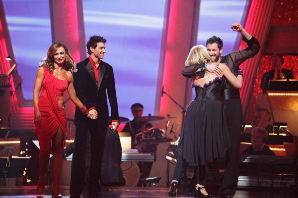 Ralph Macchio and his partner Karina Smirnoff react to being eliminated from ABC&#39;s hit ballroom dancing competition series on Tuesday, May 17, 2011. an Argentine Tango, a Salsa and an Instant Cha Cha on week nine of &#39;Dancing With The Stars.&#39; The judges gave the couple 25 out of 30 for their Argentine Tango and 23 points out of 30 for their Salsa. The couple earned a total of 48 out of 60. <span class=meta>(ABC Photo&#47; Adam Taylor)</span>