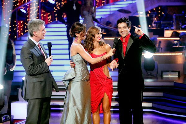 Ralph Macchio and his partner Karina Smirnoff react to being eliminated from ABC's hit ballroom dancing competition series on Tuesday, May 17, 2011. an Argentine Tango, a Salsa and an Instant Cha Cha on week nine of 'Dancing With The Stars.' The judges ga