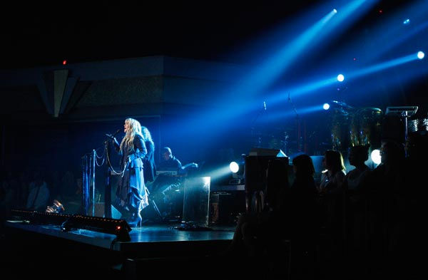 Grammy Award-winning singer Stevie Nicks performed two songs, &#39;Landslide,&#39; accompanied by Tony and Cheryl on the dance floor, and her new single &#39;Secret Love.&#39; For the her new single she was accompanied by Dmitry, Anna, Peta and Damian on the dance floor.  <span class=meta>(ABC Photo&#47; Michael Desmond)</span>