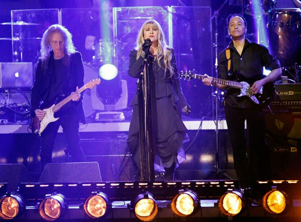 "<div class=""meta ""><span class=""caption-text "">Grammy Award-winning singer Stevie Nicks performed two songs, 'Landslide,' accompanied by Tony and Cheryl on the dance floor, and her new single 'Secret Love.' For the her new single she was accompanied by Dmitry, Anna, Peta and Damian on the dance floor.  (ABC Photo/ Adam Taylor)</span></div>"