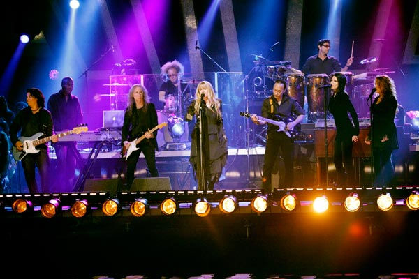 "<div class=""meta image-caption""><div class=""origin-logo origin-image ""><span></span></div><span class=""caption-text"">Grammy Award-winning singer Stevie Nicks performed two songs, 'Landslide,' accompanied by Tony and Cheryl on the dance floor, and her new single 'Secret Love.' For the her new single she was accompanied by Dmitry, Anna, Peta and Damian on the dance floor.  (ABC Photo/ Adam Taylor)</span></div>"