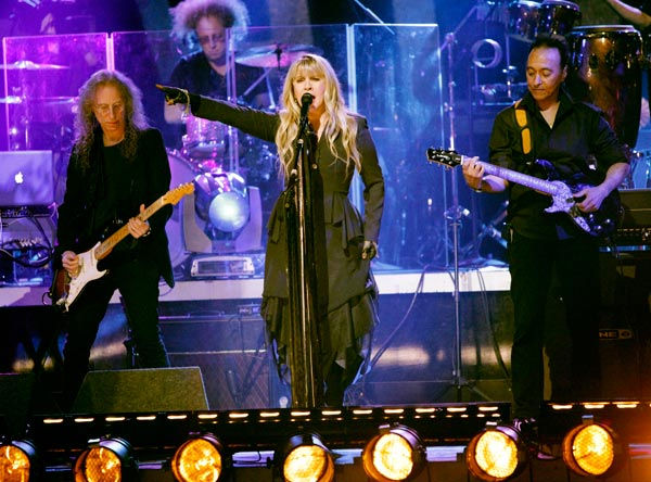 Grammy Award-winning singer Stevie Nicks performed two songs, &#39;Landslide,&#39; accompanied by Tony and Cheryl on the dance floor, and her new single &#39;Secret Love.&#39; For the her new single she was accompanied by Dmitry, Anna, Peta and Damian on the dance floor.  <span class=meta>(ABC Photo&#47; Adam Taylor)</span>