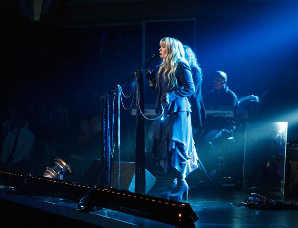 "<div class=""meta ""><span class=""caption-text "">Grammy Award-winning singer Stevie Nicks performed two songs, 'Landslide,' accompanied by Tony and Cheryl on the dance floor, and her new single 'Secret Love.' For the her new single she was accompanied by Dmitry, Anna, Peta and Damian on the dance floor.  (ABC Photo/ Michael Desmond)</span></div>"