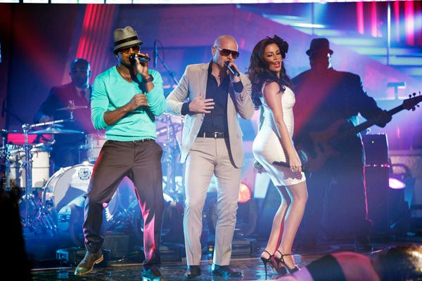 Pitbull also stopped by to perform 'Give Me...