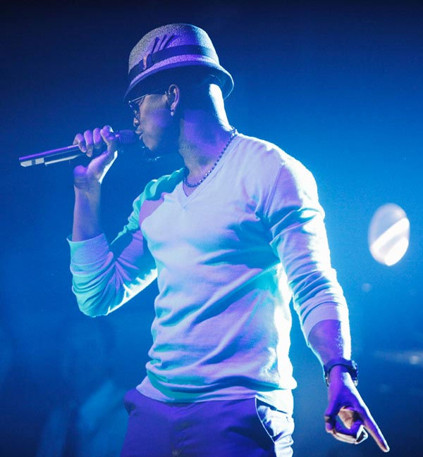 Pitbull also stopped by to perform 'Give Me Everything' with Ne-Yo and Nayer. (Pictured: Ne-Yo)