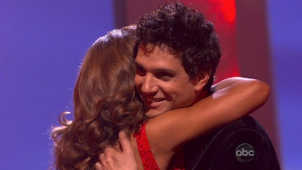"<div class=""meta ""><span class=""caption-text "">Ralph Macchio and his partner Karina Smirnoff react to being eliminated from ABC's hit ballroom dancing competition series on Tuesday, May 17, 2011. an Argentine Tango, a Salsa and an Instant Cha Cha on week nine of 'Dancing With The Stars.' The judges gave the couple 25 out of 30 for their Argentine Tango and 23 points out of 30 for their Salsa. The couple earned a total of 48 out of 60. (OTRC Photo)</span></div>"
