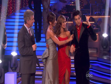 Ralph Macchio and his partner Karina Smirnoff react to being eliminated from ABC&#39;s hit ballroom dancing competition series on Tuesday, May 17, 2011. an Argentine Tango, a Salsa and an Instant Cha Cha on week nine of &#39;Dancing With The Stars.&#39; The judges gave the couple 25 out of 30 for their Argentine Tango and 23 points out of 30 for their Salsa. The couple earned a total of 48 out of 60. <span class=meta>(OTRC Photo)</span>