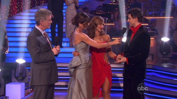 Ralph Macchio and his partner Karina Smirnoff react to