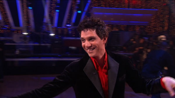 "<div class=""meta image-caption""><div class=""origin-logo origin-image ""><span></span></div><span class=""caption-text"">Ralph Macchio and his partner Karina Smirnoff react to being eliminated from ABC's hit ballroom dancing competition series on Tuesday, May 17, 2011. an Argentine Tango, a Salsa and an Instant Cha Cha on week nine of 'Dancing With The Stars.' The judges gave the couple 25 out of 30 for their Argentine Tango and 23 points out of 30 for their Salsa. The couple earned a total of 48 out of 60. (OTRC Photo)</span></div>"