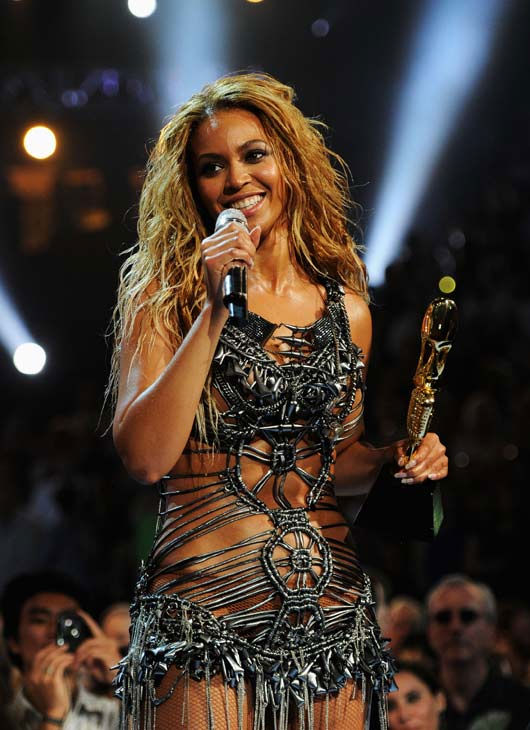 Beyonce accepts the Millennium Award at the 2011...