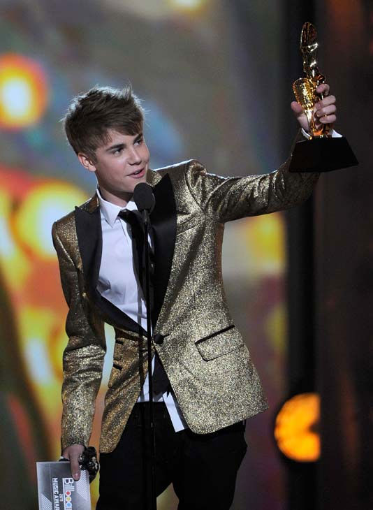 Justin Bieber wins at the 2011 Billboard Music Awards in Las Vegas on Sunday, May 22, 2011.