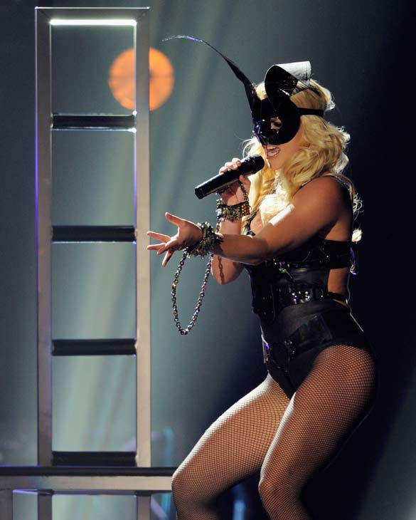 Britney Spears and Rihanna perform at the 2011...