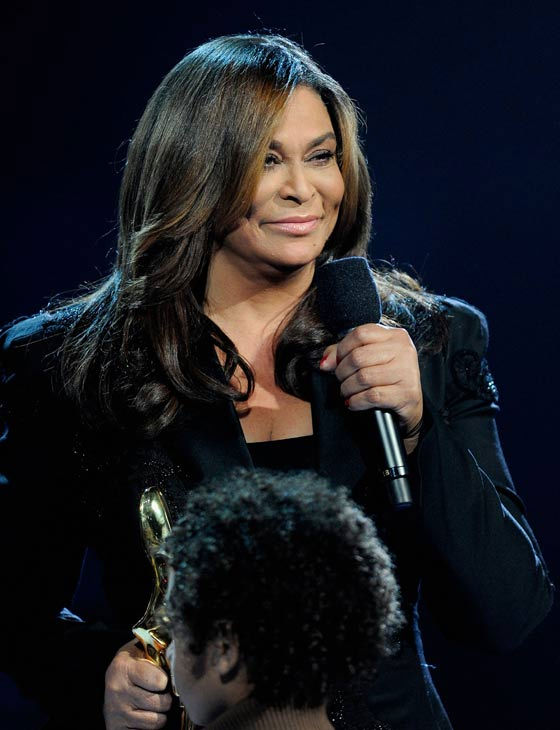 Tina Knowles, Beyonce's mother, presents her...