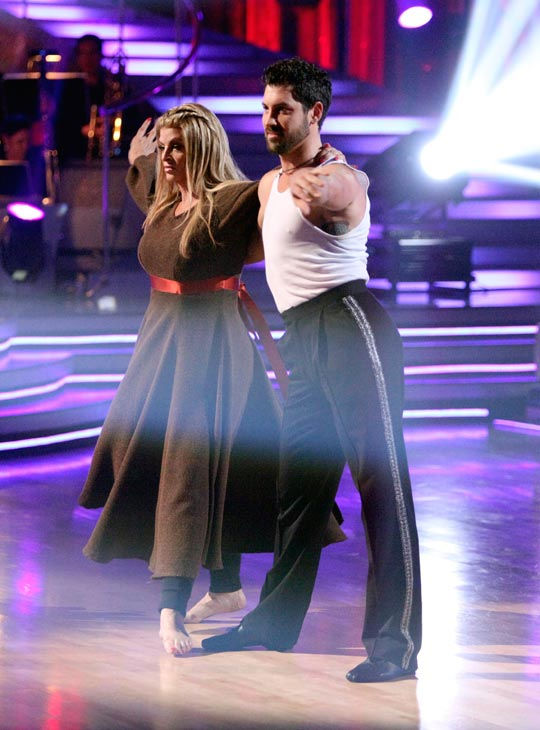 "<div class=""meta ""><span class=""caption-text "">Kirstie Alley and her partner Maksim Chmerkovskiy dance a Samba and a Freestyle dance on week ten of 'Dancing With The Stars.' The judges gave the couple 27 out of 30 for their Samba and 27 points out of 30 for their Freestyle. The couple earned a total of 54 out of 60.  (ABC Photo/ Adam Taylor)</span></div>"