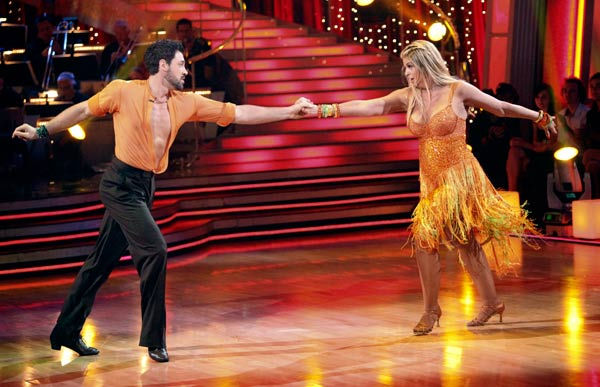 Kirstie Alley and her partner Maksim Chmerkovskiy dance a Samba and a Freestyle dance on week ten of 'Dancing With The Stars.' The judges gave the couple 27 out of 30 for their Samba and 27 points out of 30 for their Freestyle. The couple earned