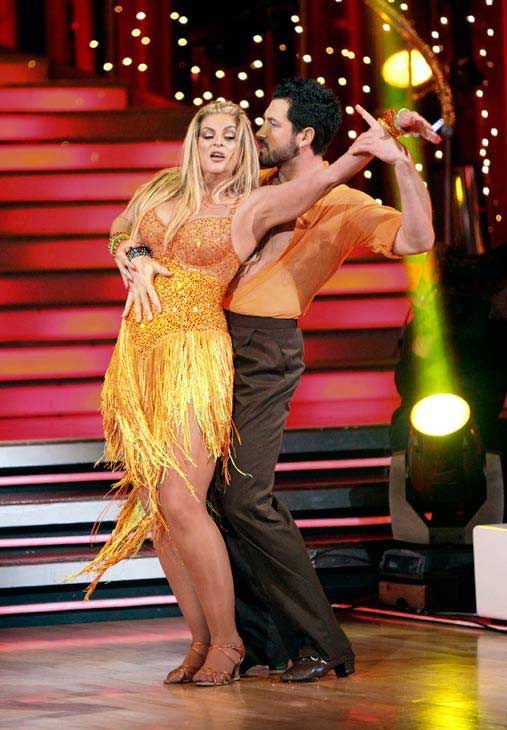 Kirstie Alley and her partner Maksim Chmerkovskiy dance a Samba and a Freestyle dance on week ten of 'Dancing With The Stars.' The judges gave the couple 27 out of 30 for their Samba and 27 points out o