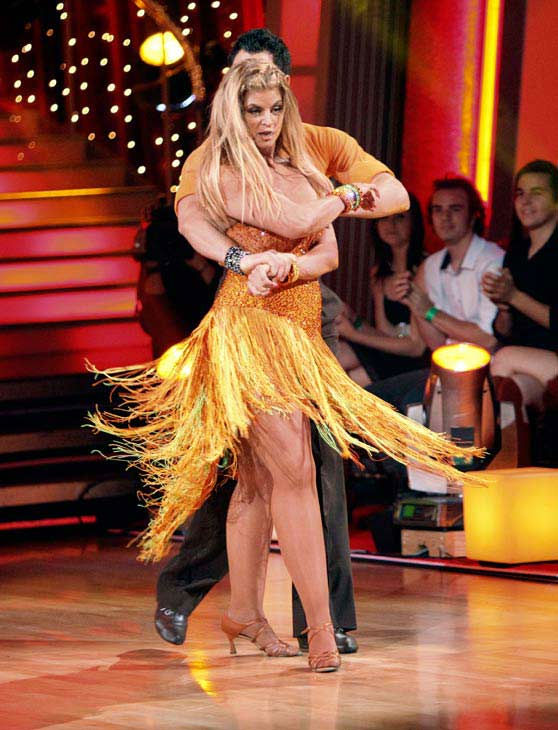 Kirstie Alley and her partner Maksim Chmerkovskiy dance a Samba and a Freestyle dance on week ten of 'Dancing With The Stars.' The judges gave the couple 27 out of 30 for their Samba and 27