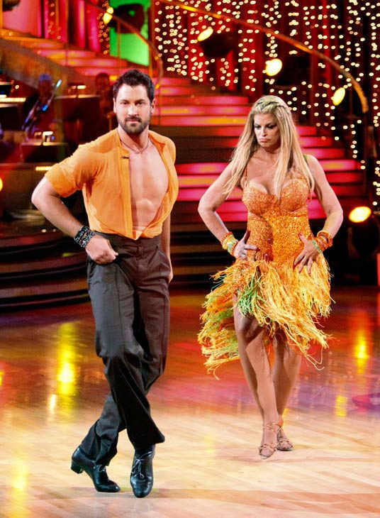 Kirstie Alley and her partner Maksim Chmerkovskiy dance a Samba and a Freestyle dance on week ten of 'Dancing With The Stars.' The judges g